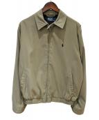 POLO RALPH LAUREN(ポロラルフローレン)の古着「スウィングトップ」|ベージュ