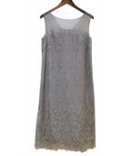 GRACE CLASS(グレースクラス)の古着「バックチュールレースドレス」|グレー