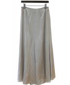 ADORE(アドーア)の古着「ヴィスコースサテンマキシスカート」|シルバー
