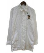 YohjiYamamoto pour homme(ヨウジヤマモトプールオム)の古着「タイガー刺繍シャツ」|ホワイト