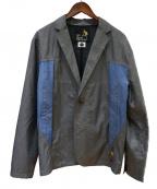 go slow caravan(ゴースローキャラバン)の古着「切替ジャケット」|グレー