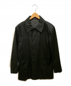 agnes b(アニエスベー)の古着「コーティング加工ハーフコート」|ブラック