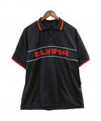 ELVIRA(エルビラ)の古着「BREAK BIG POLO SHIRT」|ブラック