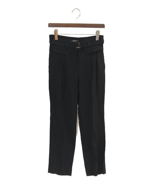 A.P.C.(アーペーセー)A.P.C. (アーペーセー) ベルト付パンツ ブラック サイズ:36の古着・服飾アイテム
