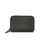 CHANEL(シャネル)の古着「ダブル ラウンドファスナー財布」|ブルー×ホワイト