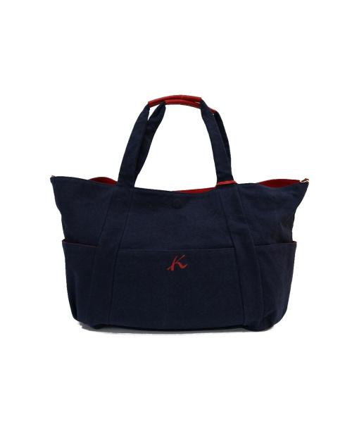 KITAMURA(キタムラ)KITAMURA (キタムラ) リバーシブルトートバッグ ネイビー×レッドの古着・服飾アイテム