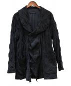 JURGEN LEHL(ヨーガンレール)の古着「デザインウールコート」 ブラック
