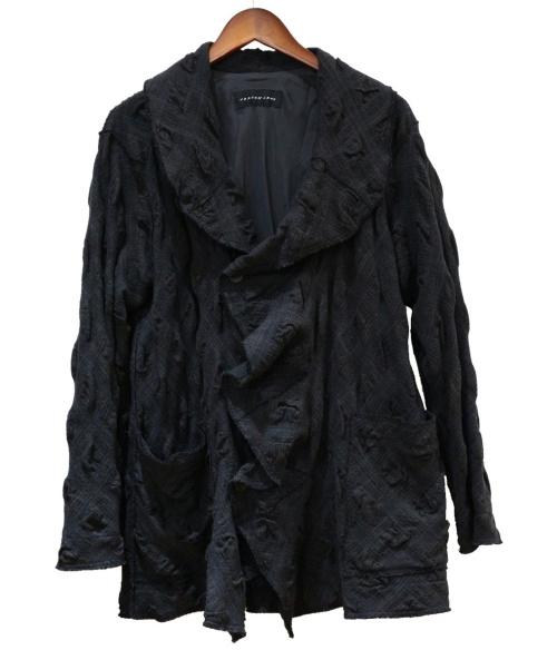 JURGEN LEHL(ヨーガンレール)JURGEN LEHL (ヨーガンレール) デザインウールコート ブラック サイズ:Mの古着・服飾アイテム