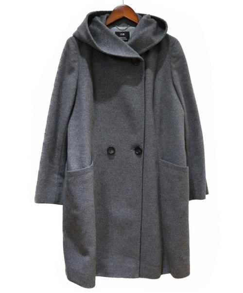 23区(ニジュウサンク)23区 (ニジュウサンク) フーデッドコート グレー サイズ:44(XL)の古着・服飾アイテム