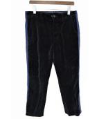 Engineered Garments(エンジニアードガーメンツ)の古着「サイドラインベロアパンツ」|ネイビー