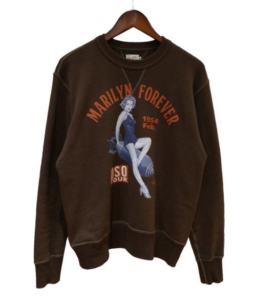 TOYS McCOY(トイズマッコイ)TOYS McCOY (トイズマッコイ) フラットシーマスウェット ブラウン サイズ:40(表記サイズL)の古着・服飾アイテム