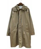BEAMS(ビームス)の古着「イージーフィットステンカラーコート」 ベージュ