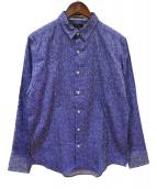 Paul Smith COLLECTION(ポールスミスコレクション)の古着「フラワージャカード カジュアルシャツ」|ブルー