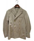 THE GIGI(ザ・ジジ)の古着「コットンナイロンストレッチソラー8Bダブルジャケット」|ベージュ