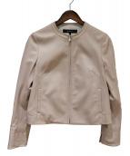 Reflect(リフレクト)の古着「シープスキンレザージャケット」|ピンク