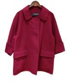 MARINA RINALDI(マリナリナルディ)の古着「ステンカラーコート」|パープル