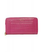 Samantha Thavasa(サマンサタバサ)の古着「型押長財布」|ピンク