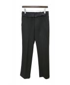 Yves Saint Laurent(イブサンローラン)の古着「ウールスラックス」|ブラック