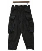 JULIUS(ユリウス)の古着「Baggy Cargo Pants」|ブラック