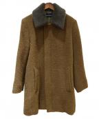 LOUNGE LIZARD(ラウンジリザード)の古着「ALPACA SHAGGY DOUBLE CLOTH ステン」|ブラウン