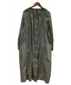 TOMORROW LAND(トゥモローランド)の古着「コットンナイロンネックギャザーコート」|グリーン