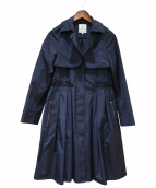 LANVIN en Bleu(ランバンオンブルー)の古着「ライナー付トレンチコート」|ネイビー
