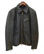 JACKROSE(ジャックローズ)の古着「レザージャケット」 ブラック
