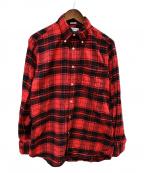 INDIVIDUALIZED SHIRTS(インディビジュアライズドシャツ)の古着「ボタンダウンチェックシャツ」|レッド