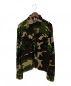 Soe(ソーイ)の古着「カモフラワイドネルシャツ」 グリーン