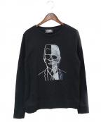 Karl Lagerfeld(カール ラガーフェルド)の古着「刺繍スウェット」|ブラック