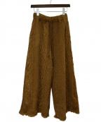 R JUBILEE(アール ジュビリー)の古着「ケーブルパンツ」 ブラウン