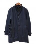 MENS BIGI(メンズビギ)の古着「撥水ストレッチスプリングコート」|ネイビー