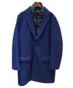 TOMORROW LAND(トゥモローランド)の古着「ダウンドッキングメルトンコート」|ブルー