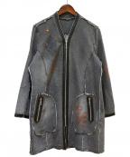 伊太利屋(イタリヤ)の古着「デニムコート」|グレー