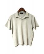 ()の古着「ニットポロシャツ」|グレー