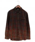 SCHOTT BROS.(ショットブロス)の古着「プレイド ワークシャツ」|ワインレッド