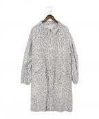 KUON(クオン)の古着「やり梅柄コート」|グレー×ホワイト