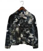Casely-Hayford(ケイスリーヘイフォード)の古着「タイダイ柄シャツジャケット」|ネイビー