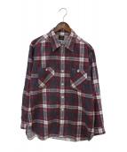 Needles(ニードルス)の古着「チェックシャツ」|パープル