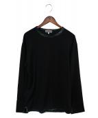 YohjiYamamoto pour homme(ヨウジヤマモトプールオム)の古着「ロングスリーブカットソー」|ブラック