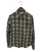 ()の古着「チェックシャツ」 ベージュ