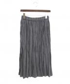 MORRIS&SONS(モリスアンドサンズ)の古着「ランダムプリーツスカート」 グレー