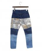 MINEDENIM(マインデニム)の古着「切替デニムパンツ」|ブルー