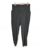 LIMI feu(リミフゥ)の古着「ウールデザインパンツ」 ブラック