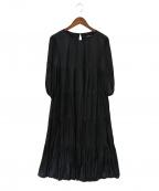 STRAWBERRY FIELDS(ストロベリーフィールズ)の古着「ロングブラウスワンピース」|ブラック