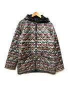 LAVENHAM(ラベンハム)の古着「プリントキルティングジャケット」|グレー