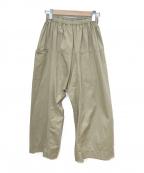 TRAVAIL MANUEL(トラバイユマニュアル)の古着「イージーワイドパンツ」|ブラウン