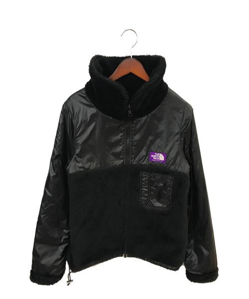 THE NORTHFACE PURPLELABEL(ザノースフェイスパープルレーベル)THE NORTHFACE PURPLELABEL (ザノースフェイスパープルレーベル) リバーシブルフリースジャケット ブラック サイズ:Lの古着・服飾アイテム