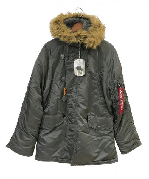 ALPHA(アルファ)ALPHA (アルファ) N-3Bタイプコート グレー サイズ:SMALL 未使用品 冬物の古着・服飾アイテム