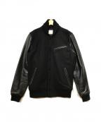 URBAN RESEARCH(アーバンリサーチ)の古着「袖レザースタジャン」|ブラック